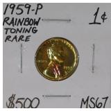 1959 P Wheat Copper Penny MS67