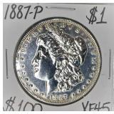 1887 P Morgan Silver Dollar XF45
