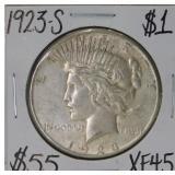 1923 S Peace Silver Dollar XF45