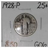 1928 P Standing Liberty Silver Quarter G06
