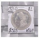 1921 D Morgan Silver Dollar MS64