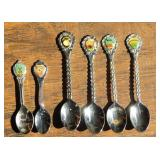 (6) Collector Spoons - US State Spoons