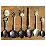 (6) US State Collector Spoons - Hawaii, Kentucky