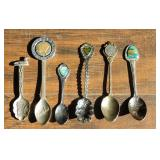 (6) US State Collector Spoons