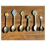 e(6) Foreign Country Collector Spoons