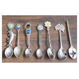 (7) Collector Spoons - Australia, Taiwan, Russia