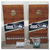 Complete Seattle Seahawks Cornhole Set
