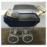 Antique Blue Baby Carriage