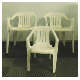 (2) Plastic Lawn Chairs & A Child Sized Plastic