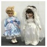 2 Antique Ceramic Dolls
