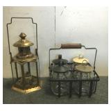 Decorative Mason Jars & Vintage Lamp