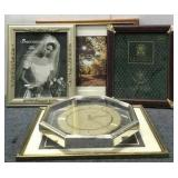 (4) Picture Frames & Verichron Clock