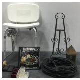 Shower Chair, MicroPhone Cord & Candle Holders