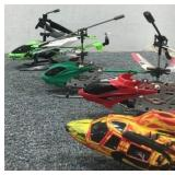 (3) RC Helicopters & RC Helicopter Body
