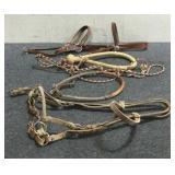 Horse Headstall & 3 Assorted Hackamores