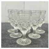 (6) Crystal Wine Glasses