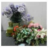 Various Flowers & Styrofoam Holders