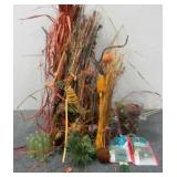 Fall Decor, (13) Floral Tubes & Yarn