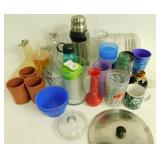 Plate & Knife Container, Thermos, Cups & Vases