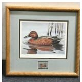 Duck Painting & Antique Stamp