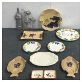 Fisher Plates, Platters, Plates