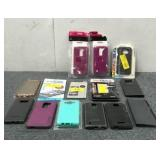 Assortment of Phone Cases and Screen Protectors