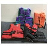 (4) Various Sized Life Jackets