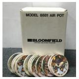 Bloomfield Airpot and Coasters