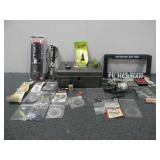 (2) EconoScales, Tackle Box, (5) License Plate Hol