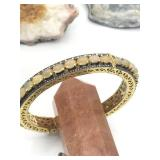 $3875 Gold plated Sil Opal/Diamond Bracelet