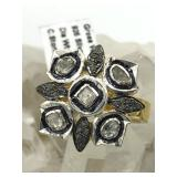 $1935 Gold plated Sil Diamond(1.15ct) Ring
