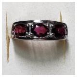 $140 Silver Garnet(3ct)  Ring