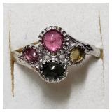 $160  Multiple Tourmaline(2ct) Ring