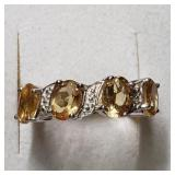$160 Silver Citrine(4ct) Ring