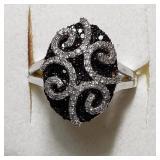 $3900 14K  Black Diamond(1ct) Ring