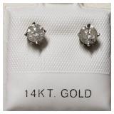 $1900 14K  Diamond(0.65ct) Earrings