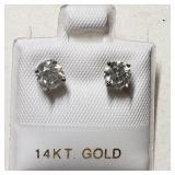 $3290 14K  Diamond(0.8ct) Earrings
