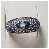 $200 Silver Tanzanite Blue Topaz Ring