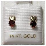 $120 14K  Garnet Earrings