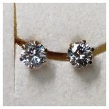 $240 10K  CZ Earrings