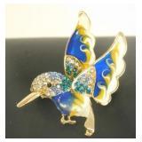 Blue Hummingbird Pin