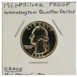 """""""BU Proof"""" 90% Silver Washington Quarter Dollar"""