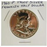 1960-P Proof Silver Fanklin Half Dollar