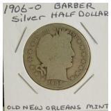 1906-O Barber Liberty Head Silver Half Dollar