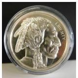. .999 Fine Silver Indian Head/Buffalo Silver Roun