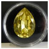 20.15ct Vintage Yellow Gold Pear Jonquil Jewel