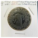 1/2 Troy Oz. .999 Fine Silver Round Egyptian
