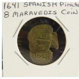 1641 Spanish Pirate 8 Maravedis Coin