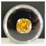 12.10ct Cushion Cut Amber Citrine 12mm Gemstone