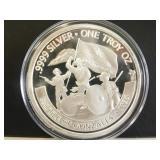 .9999 Fine Silver 1 Troy Oz. Round